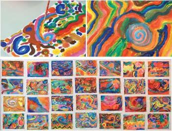De arriba abajo: Dibujos de Irene González, Borja Morrow, Antonio Roldán y Elena Zubillaga. Curso 2008-2009.