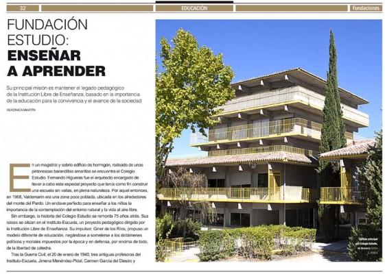 """""""Estudio"""" en la Revista Fundaciones: enseñar a aprender"""