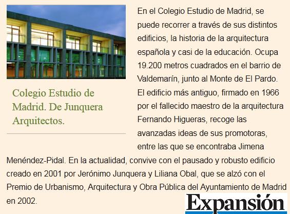 """La arquitectura de """"Estudio"""" en el diario Expansión"""