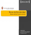 Convocatoria Becas Escolaridad 2016-2017