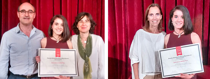 Premio Extraordinario para Sara García-Bellido