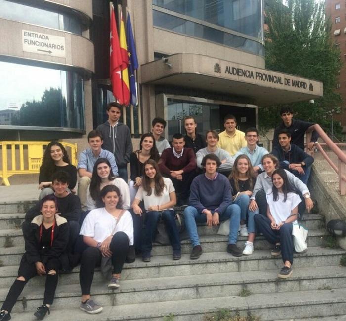 Las Clases 17 visitan La Audiencia Provincial de Madrid