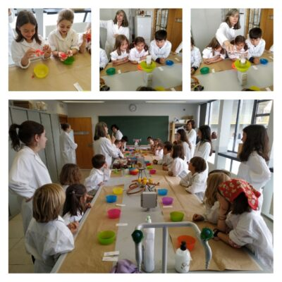 CLASES VII: Visita al laboratorio de la 18
