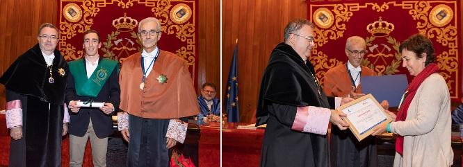 Diploma al «Mejor Expediente Académico» en Grado. Ing. Forestal para Pedro Alcázar