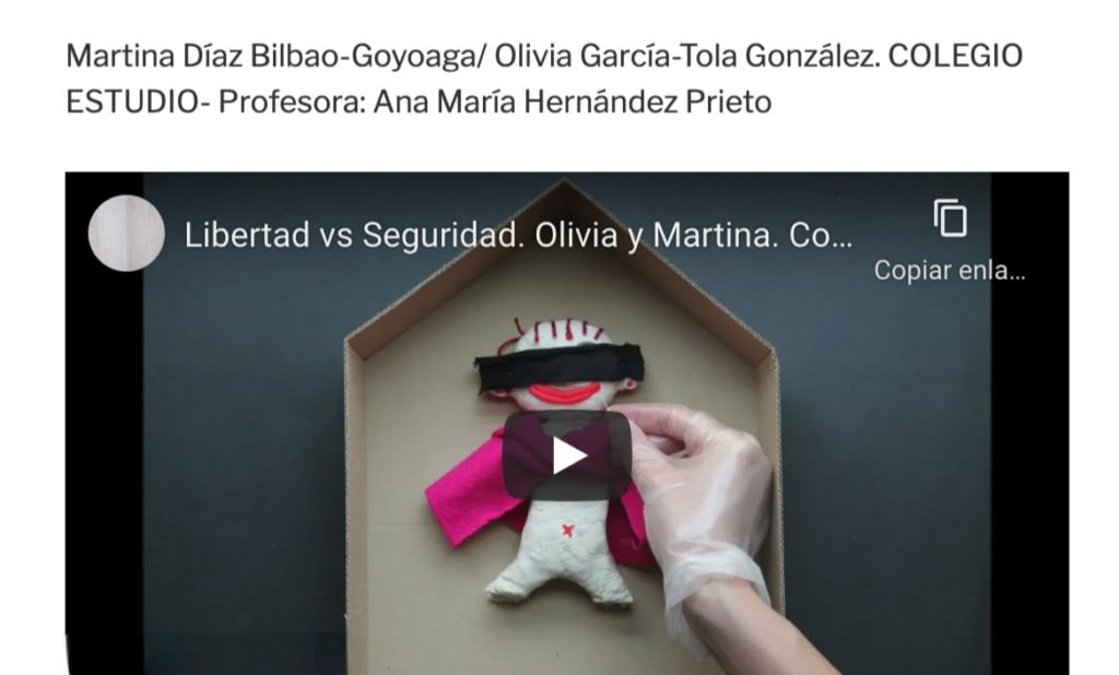 1er PREMIO EN LA OLIMPIADA FILOSÓFICA DE MADRID